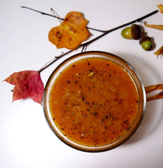 Pumpkin Soup with Thyme and Sherry